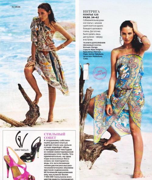 Как сшить для девочки пляжное платье