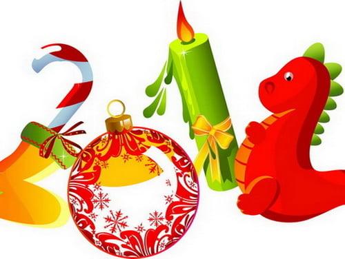 год дракона открытки  открытки с драконом  новый год 2012 открытки открытки с новым годом 2012