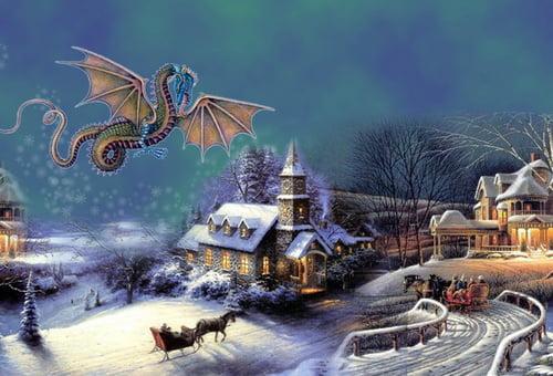открытки с новым годом 2012