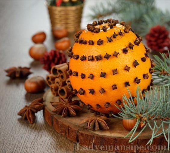 Украшение комнаты мандаринами на новый год
