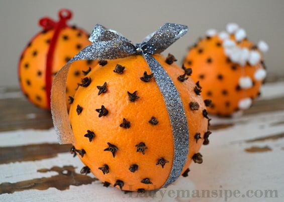 Поделки на новый год из мандарин