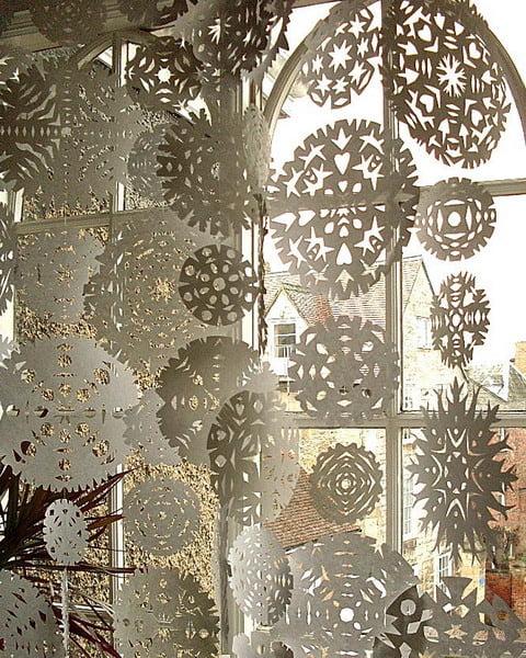 Гирлянды на окна своими руками фото