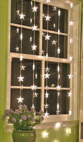 Украшения на новый год на окно своими руками фото