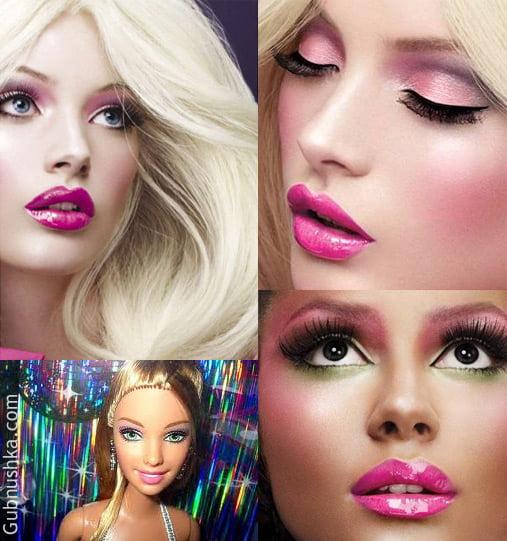 Сделать макияж стиле барби