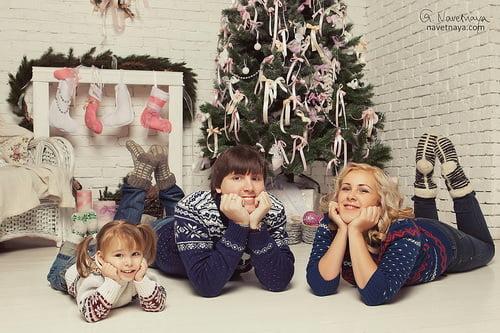 Идеи для новогодней семейной фотосессии